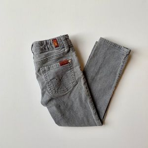 7 for all Mankind Toddler Gray Corduroy Jeans